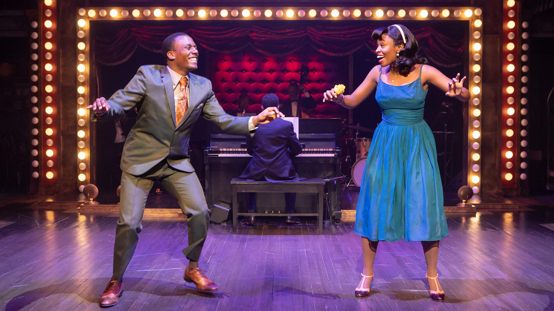 "Solomon Parker III, left, and Korinn Walfall perform in ""Ain't Misbehavin'"" at Signature Theatre. (Photo by Christopher Mueller via Maryland Today.)"