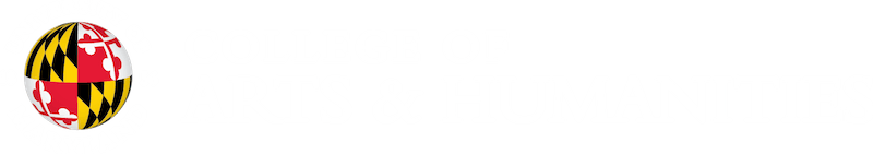 UMD UMD College of Arts and Humanities Logo White